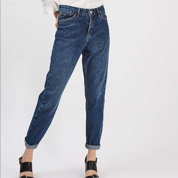 aad54e0b39 Petite MOTO Dark MOM Jeans Topshop. M_5ac671e0331627a9697c22d5